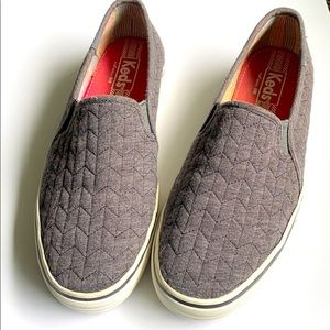 Keds quilted slip-on in a neutral color